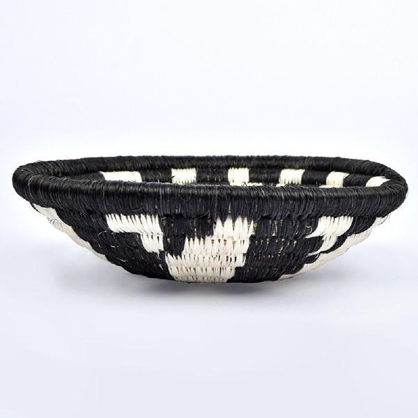 Kazi Small Virunga Basket - Black/White