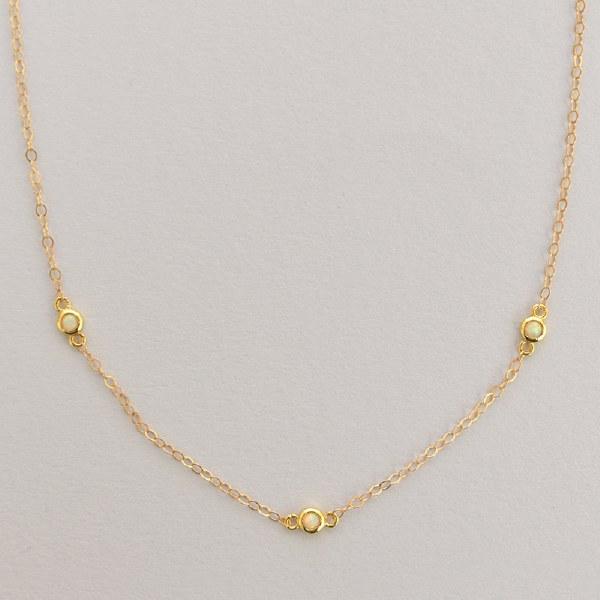 Leslie Francesca Three Stone - Opal
