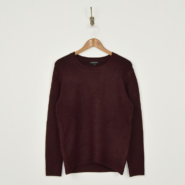 Liverpool High Low Crew Neck - Burgundy