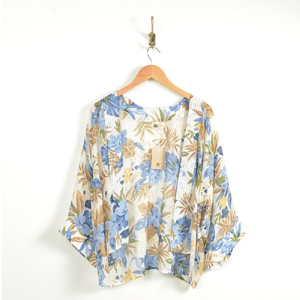 Look By M Embroidered Wrap - Tan