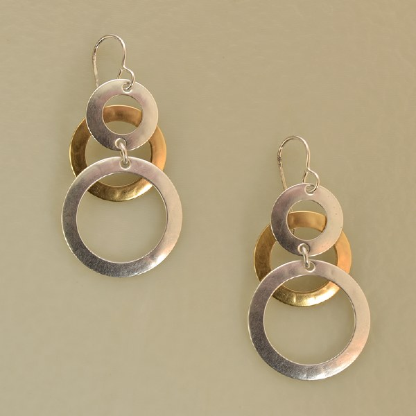 Marjorie Baer E9252 - Brass/Silver