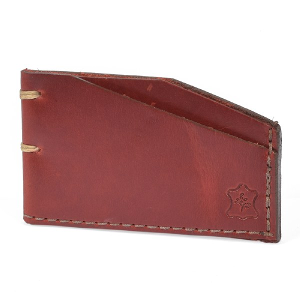 Orox Leather Slim Cardholder - Red