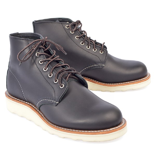 "Red Wing 3450 6"" Round Toe - Black"