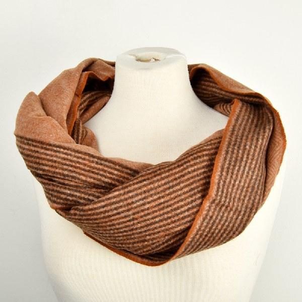 Saro Striped Scarf 2 - Rust