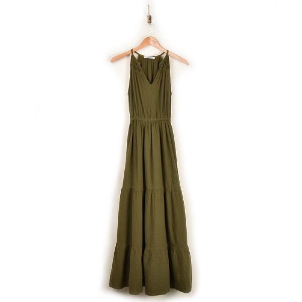 Self Contrast Malibu Dress - Aloe
