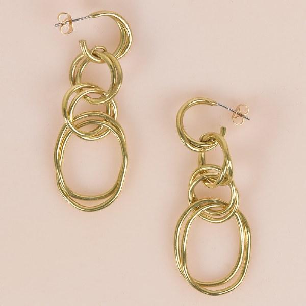 SOKO Lrg Nia Earrings - Brass