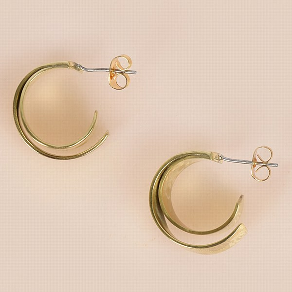 SOKO Ribbon Mini Hoop - Brass