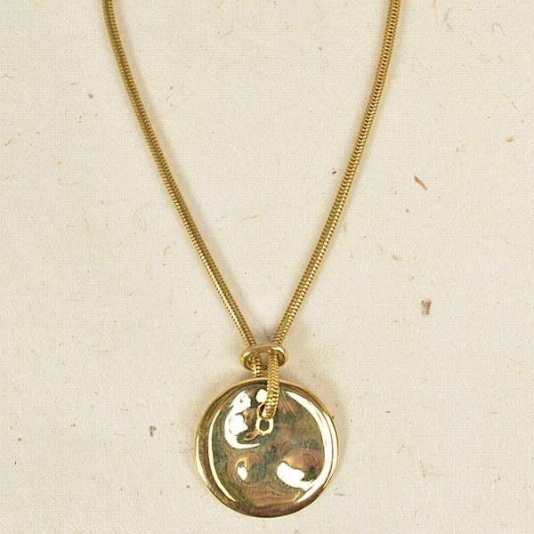 SOKO Ripple Disc Pendant - Brass
