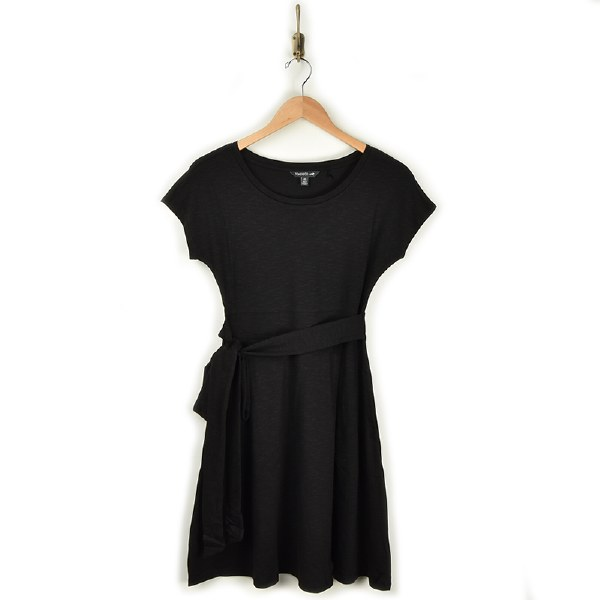 Toad & Co Cue Wrap SS Dress - Black