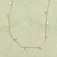 Athena Crystal Drop Necklace - Rose Gold