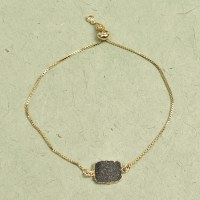 Athena Druzy Bracelet - Black