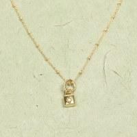 Athena Mini Lock Necklace - Gold