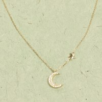 Athena Moon & Star Necklace - Gold