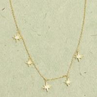 Athena Starburst Necklace - Gold