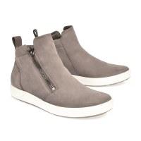 Ecco Soft 7 Zip Bootie - Warm Grey