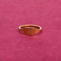 Farrah B Deco Ring - Gold