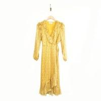 Greylin Esther Midi Dress - Tumeric Yellow