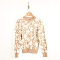 Lilla P Floral Puff SL Sweater - Oatmeal Ivory