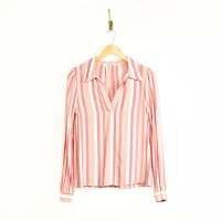 Self Contrast Ava L/S Blouse - Berry