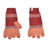 Smartwool Popcorn Cable Glove - Sunset Coral