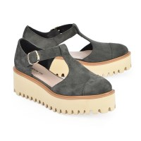 All Black Flatfrm Sandal Ox II - Grey