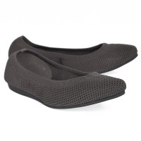 All Black Mesh Ballet - Dark Grey
