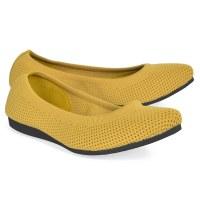 All Black Mesh Ballet - Yellow