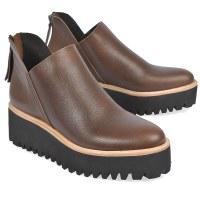 All Black Flatform Tread - Brown