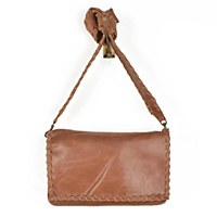 Able Sara Whipstitch Crossbody - Chestnut