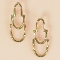 Arcos Kala Earrings  - Brass