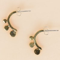 Arcos Lyra Earrings Brass  - Brass