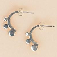 Arcos Lyra Earrings Silver - Silver