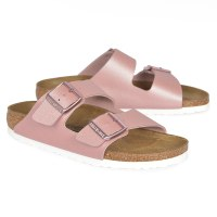 Birkenstock Arizona Birko Flor - Metallic Icy