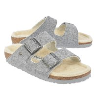 Birkenstock Arizona Happy Lamb - Light Grey