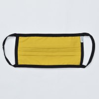 Coal Solid Face Mask - Yellow