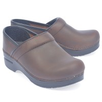 Dansko Professional Oiled Clog - Brown/Black