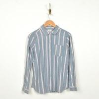 Dylan Herringbone Cham Stripe - Blue