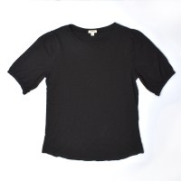 Dylan Puff Sleeve Tee - Black