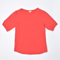 Dylan Puff Sleeve Tee - Hot Red