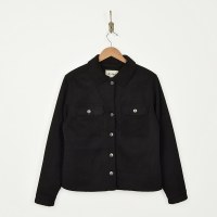 Dylan Trucker Cord Jacket - Black