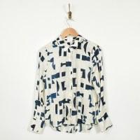 Ecru The Hepburn Shirt - Braque Abstract
