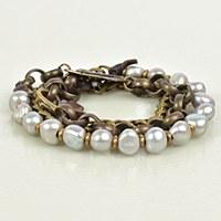 Embrazio Pearl Bracelet Triple - Bronze