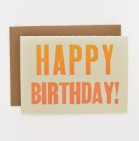 ETC Letterpress Happy Birthday - Neutral
