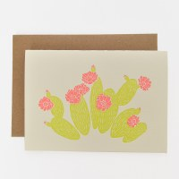 ETC Letterpress Prickly Pear - Neutral