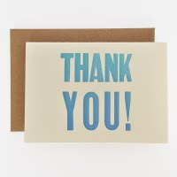 ETC Letterpress Thank You - Neutral