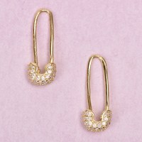 Safety Pin Earrings /FB