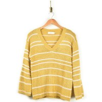Greylin Larissa Stripe Sweater - Golden/Mustard
