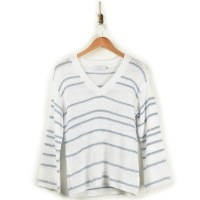 Greylin Larissa Stripe Sweater - White/Chambray