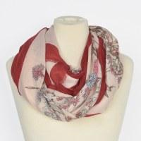 Joy Susan Floral Trellis Scarf - Red