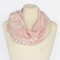 Joy Susan Sheer Striped Scarf - Pink